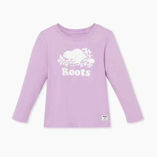 Roots-Kids T-shirts-Toddler Original Cooper Beaver T-shirt-Lupine-A