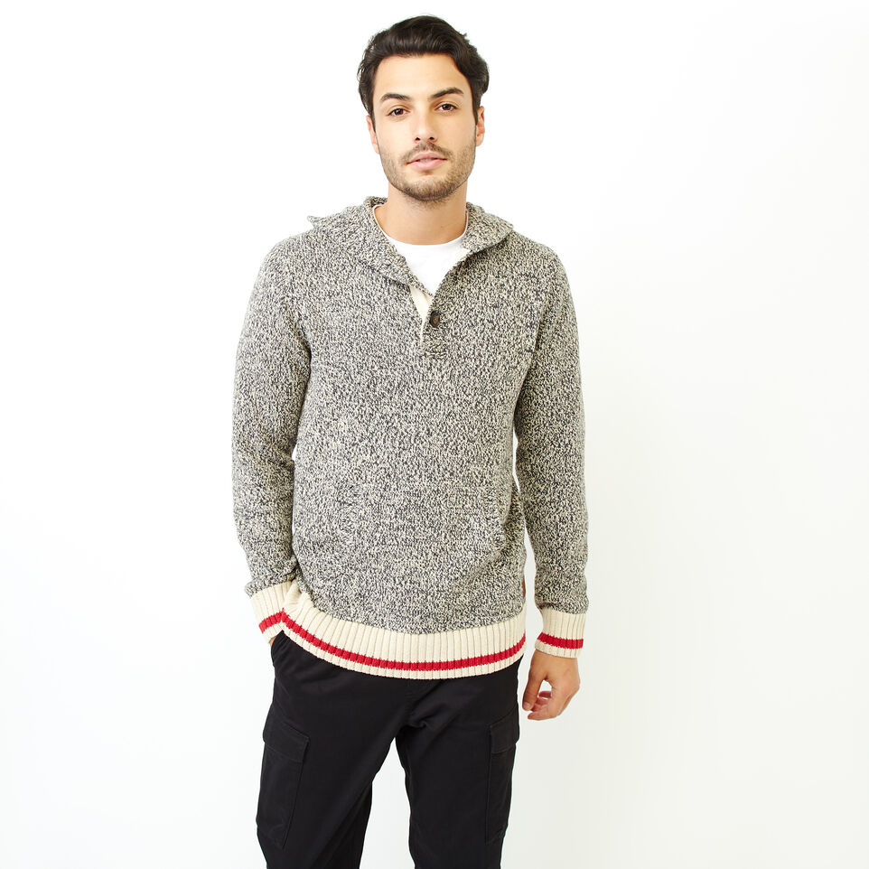 Roots-Men Our Favourite New Arrivals-Cotton Cabin Anorak Sweater-Speckle-A
