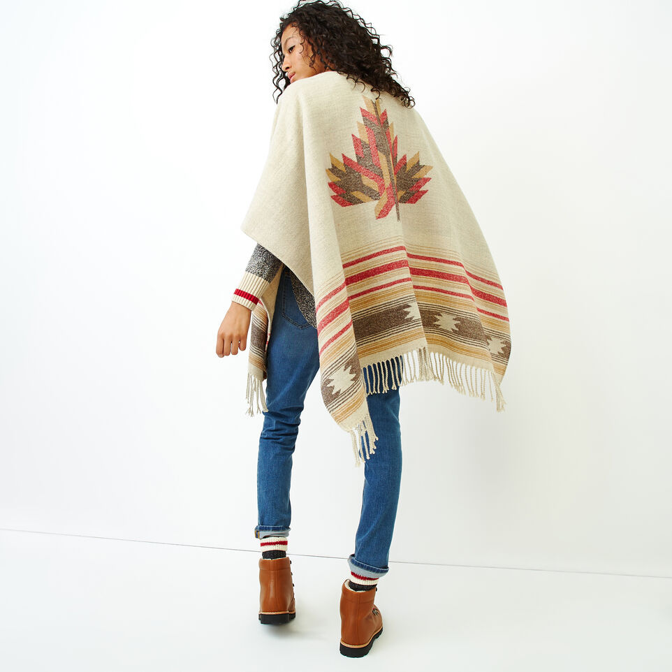 Roots-Women Accessories-Erindale Wrap-Flaxseed Mix-D
