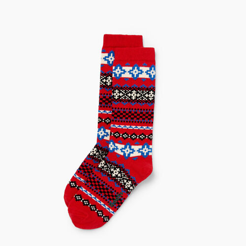 Roots-Winter Sale 40-50% Off - View All-Chalet Sock-Racing Red-A