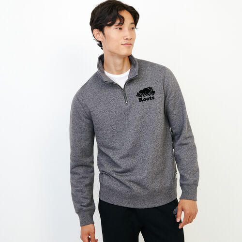 Roots-Men Sweats-Original Zip Stein-Charcoal Pepper-A