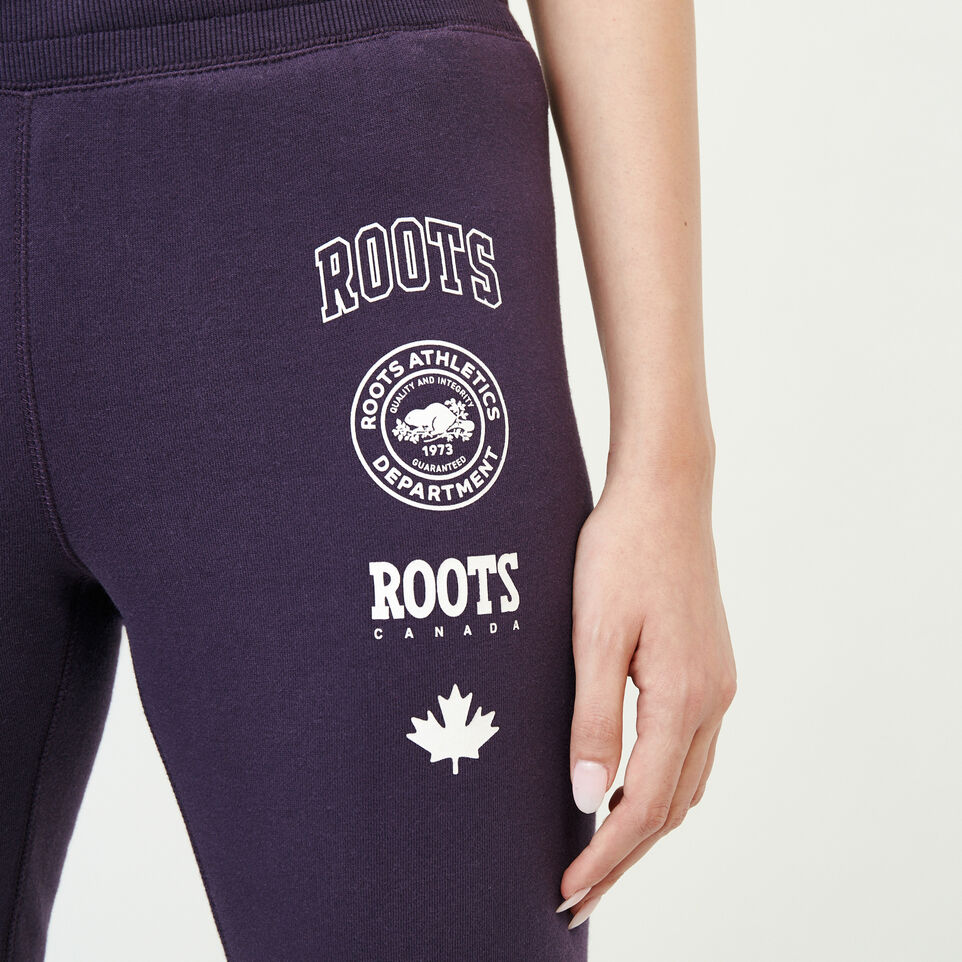 Roots-Women New Arrivals-Stamps Slim Sweatpant-Night Shade-E