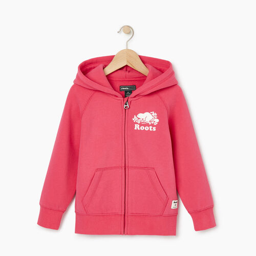 Roots-Sale Kids-Toddler Original Full Zip Hoody-Pink Flambé-A