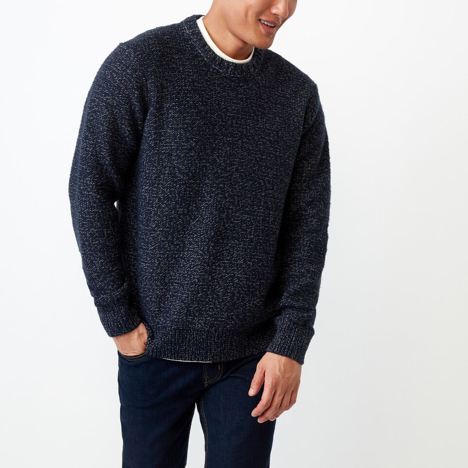 Roots-Winter Sale Men-Snowy Fox Crew Sweater-Navy Fox-A