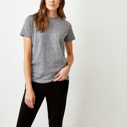 Roots-Women Our Favourite New Arrivals-Perfect Peppered T-shirt-Salt & Pepper-A