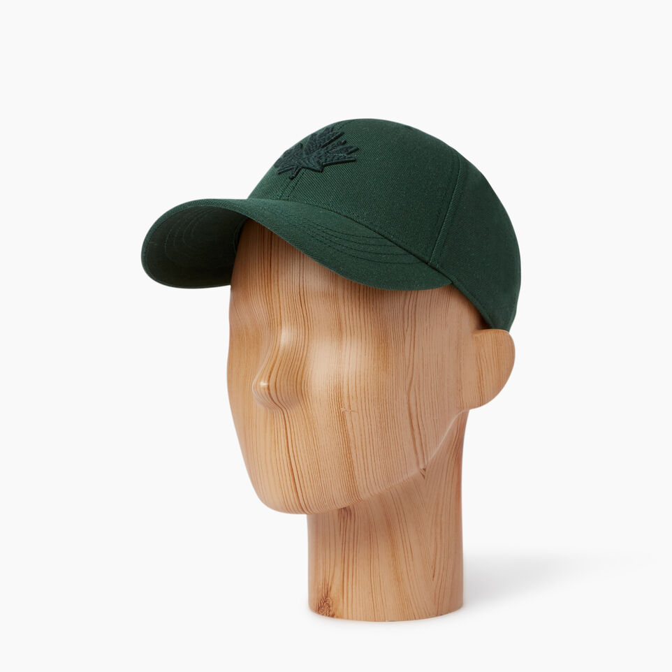 Roots-Men Our Favourite New Arrivals-Modern Leaf Baseball Cap-Park Green-B