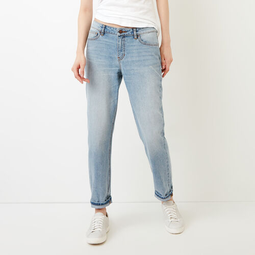 Roots-Women Categories-Aiden Boyfriend Jean-Bleached Denim-A
