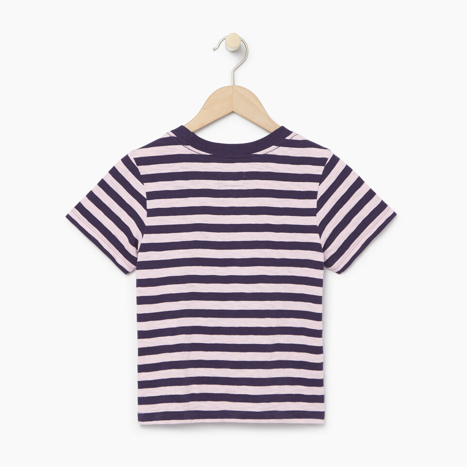 Roots-Kids Categories-Girls Alumni Boxy Top-Eclipse-B