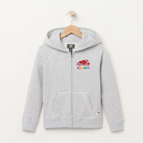Roots-Sale Kids-Girls Canada Zip Hoody-Snowy Ice Mix-A