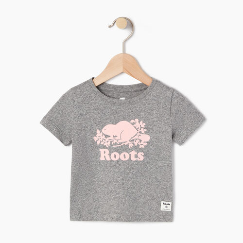 Roots-Kids Categories-Baby Original Cooper Beaver T-shirt-Salt & Pepper-A