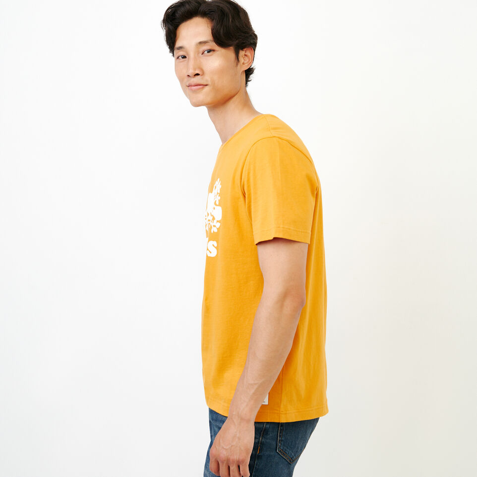 Roots-Men Our Favourite New Arrivals-Mens Cooper Beaver T-shirt-Squash Yellow-D