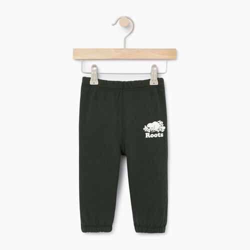 Roots-Clearance Kids-Baby Original Sweatpant-Park Green-A