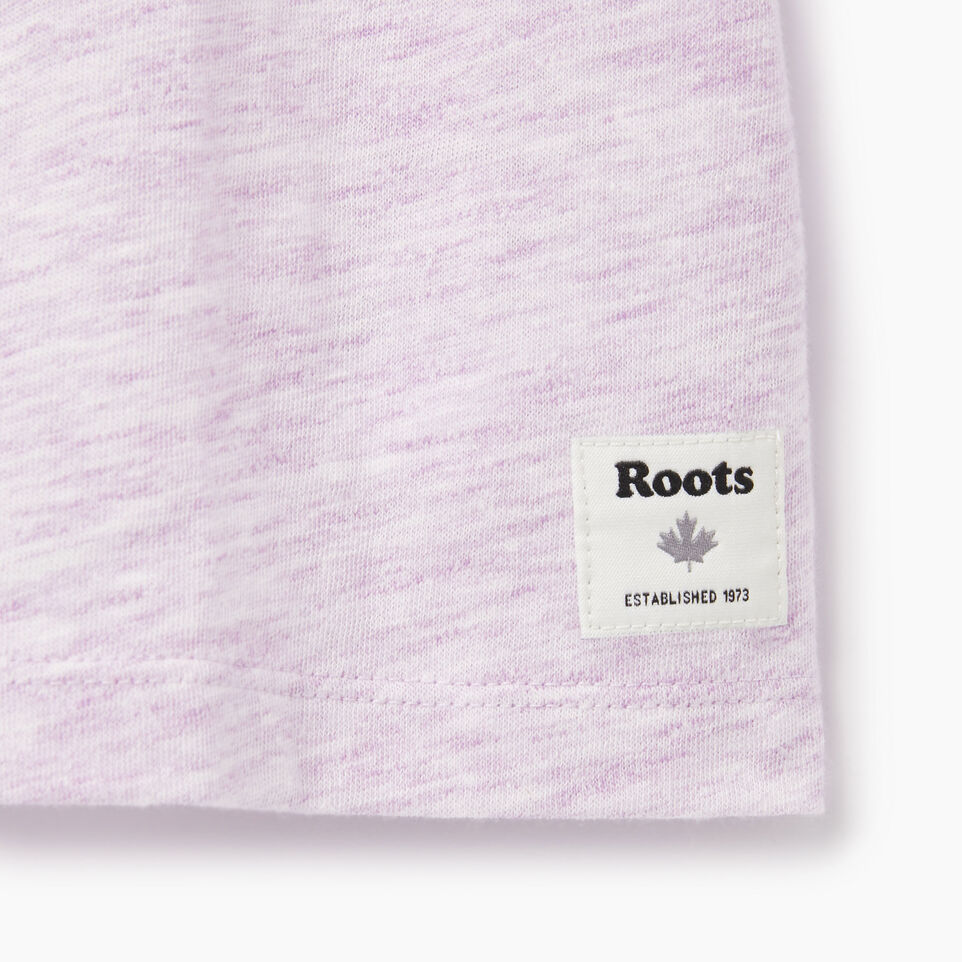 Roots-Kids Our Favourite New Arrivals-Girls Roots Space Dye T-shirt-Lavendula-C
