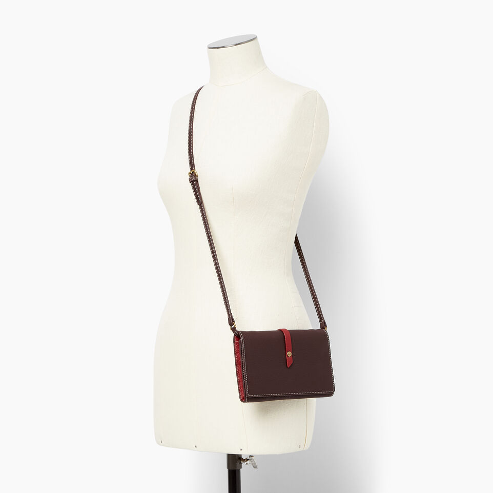 Roots-Leather Wallets-Large Stella Wallet Bag-Raspberry Wine-B