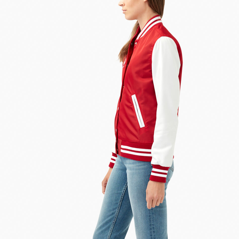 Roots-Leather Categories-Retro Varsity Jacket-Red-C