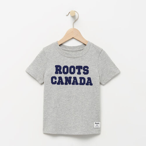 Roots-Kids T-shirts-Toddler Patches T-shirt-Grey Mix-A