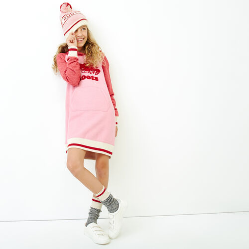 Roots-Kids Our Favourite New Arrivals-Girls Roots Cabin Cozy Dress-Cashmere Rose Pepper-A