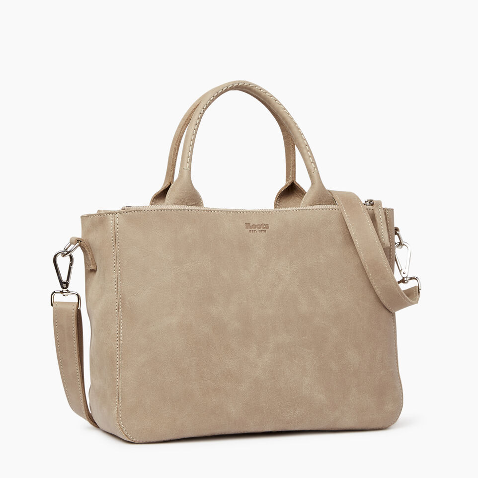 Roots-Leather  Handcrafted By Us Our Favourite New Arrivals-Riverdale Tote-Sand-C