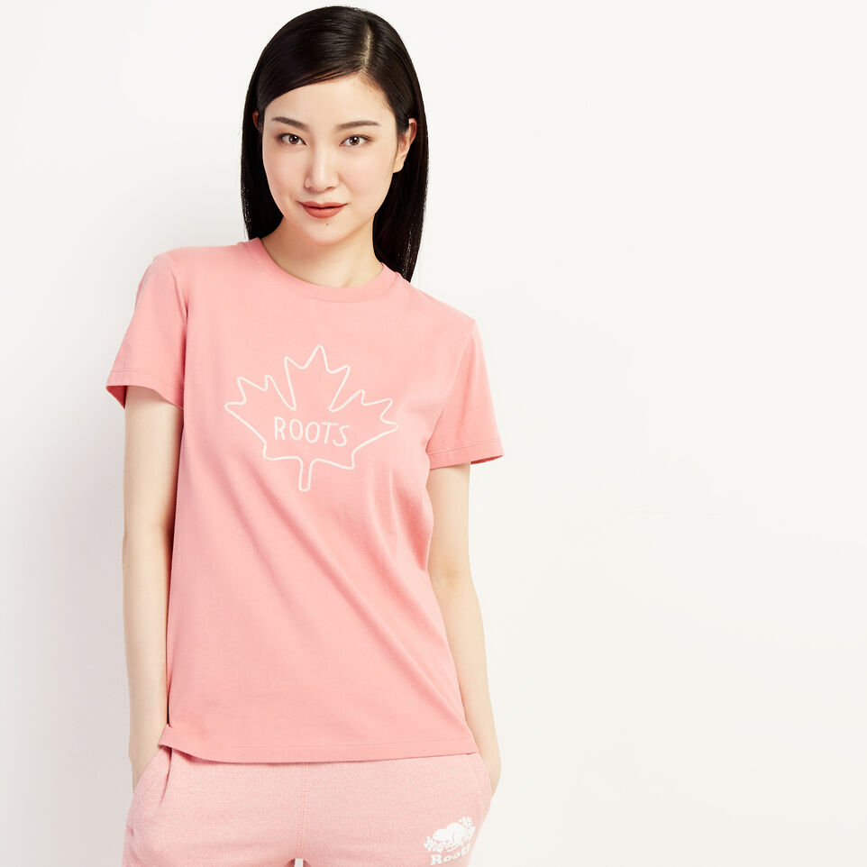 Roots-undefined-Womens Maple T-shirt-undefined-B