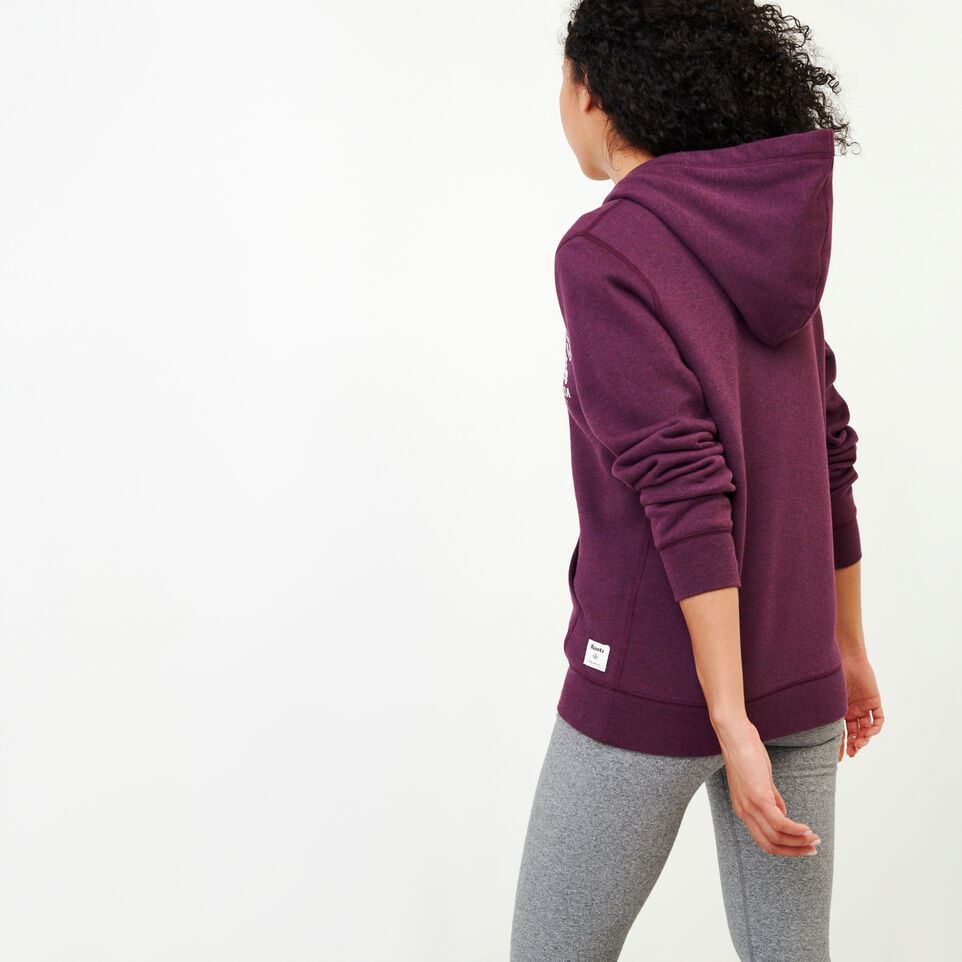Roots-Women Clothing-Classic Full Zip Hoody-Pickled Beet Mix-D