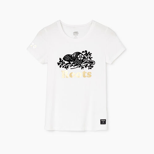 Roots-Women Categories-Womens Lunar New Year Slim T-Shirt-Crisp White-A