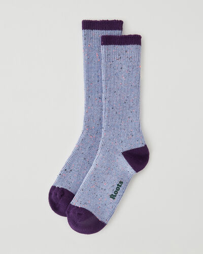 Roots-Women Accessories-Womens Camp Speckle Sock-Purple-A