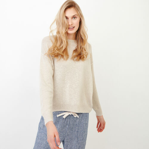Roots-Women Sweaters & Cardigans-Tathlina Crew Sweater-Natural-A