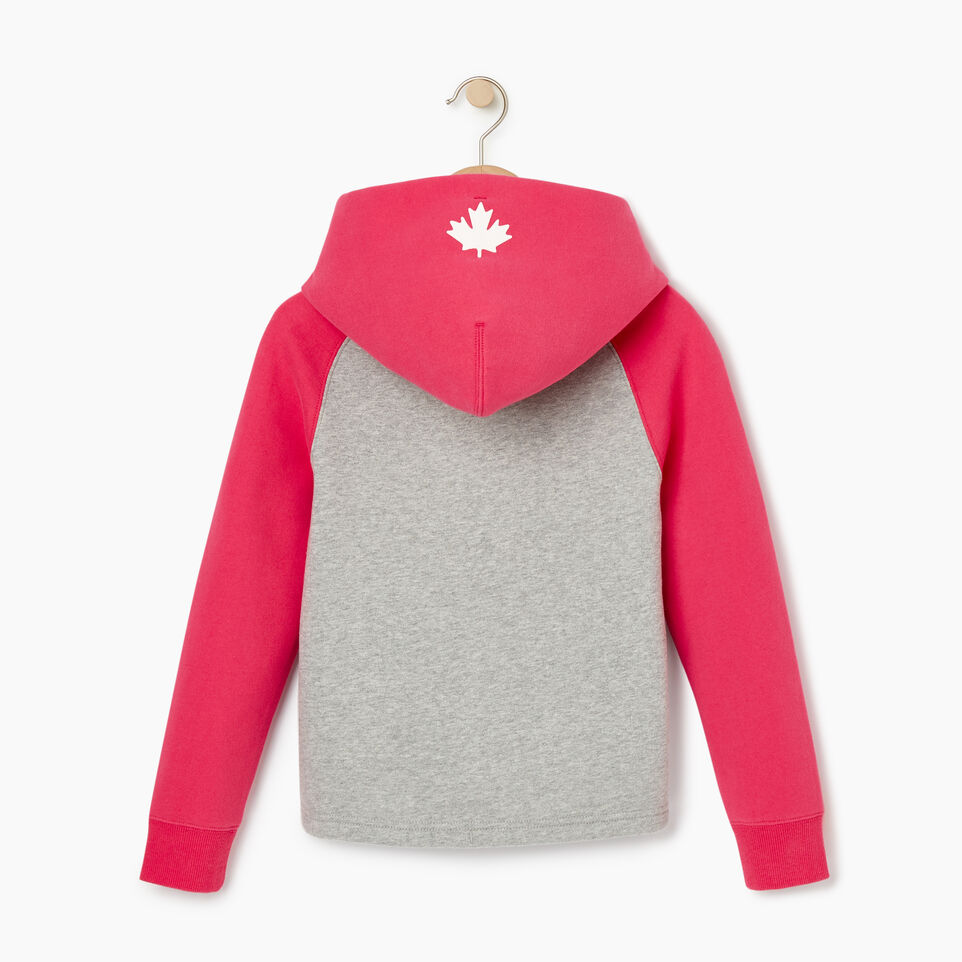 Roots-Kids Our Favourite New Arrivals-Girls 2.0 Colour block Raglan Hoody-Grey Mix-B