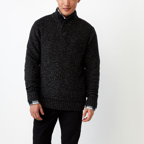 Roots-Men Our Favourite New Arrivals-Snowy Fox Mock Neck Sweater-Black Fox-A