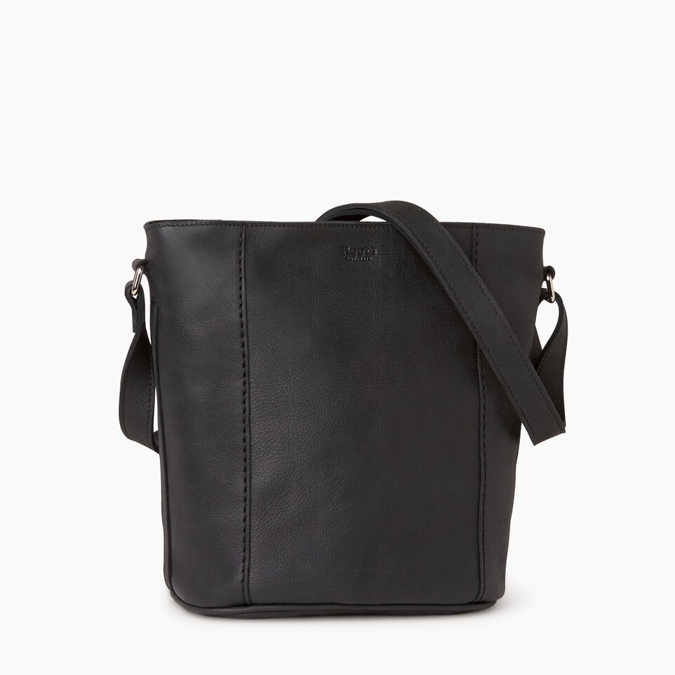 Roots-Leather  Handcrafted By Us Our Favourite New Arrivals-Victoria Bucket-Jet Black-A