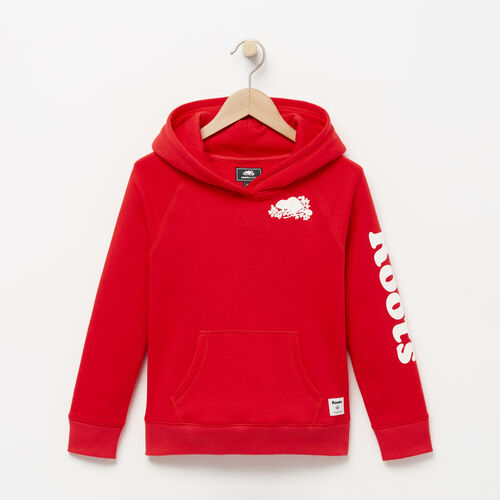Roots-Kids Bestsellers-Girls Roots Remix Hoody-Lollipop-A