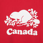 Roots-New For July Men-Mens Cooper Canada T-shirt-Sage Red-C
