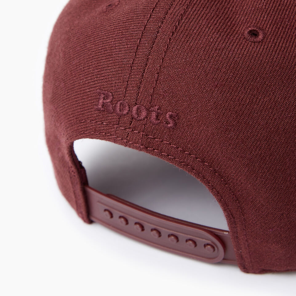 Roots-Men Our Favourite New Arrivals-Modern Leaf Baseball Cap-Crimson-E