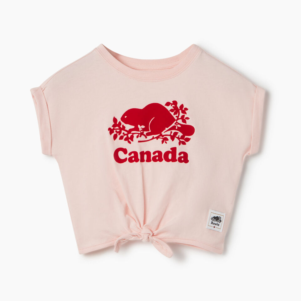 Roots-Kids New Arrivals-Baby Canada Tie T-shirt-English Rose-A