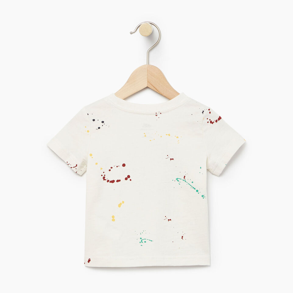 Roots-Kids Our Favourite New Arrivals-Baby Splatter Aop T-shirt-Cannoli Cream-B