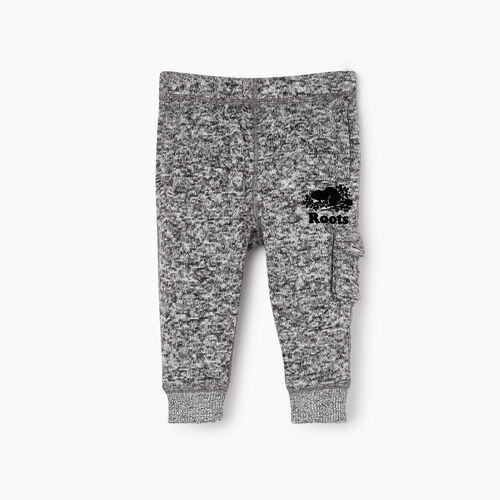 Roots-Kids Categories-Baby Sweater Fleece Cargo Pant-Salt & Pepper-A