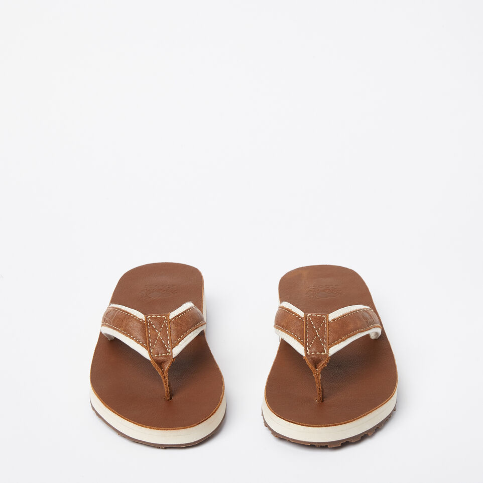 Roots-Women Footwear-Womens Tofino Flip Flop Leather-Natural-D