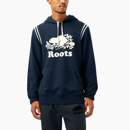 Roots-Winter Sale Men-Var-city Terry Kanga Hoody-Navy Blazer-A