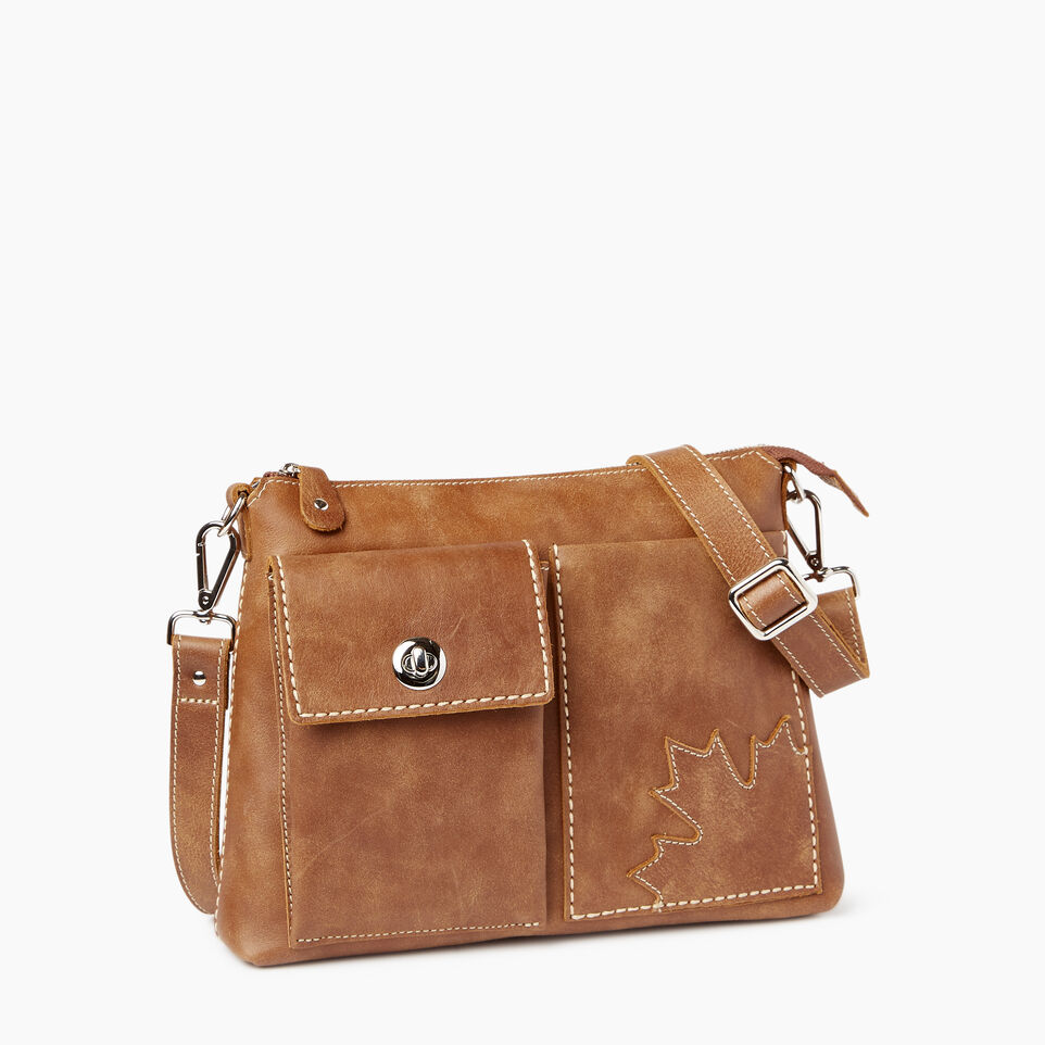 Roots-Leather Roots Original Flat Bags-Trans Canada Villager-Natural-A
