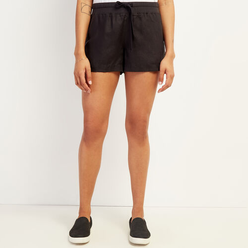 Roots-Women Shorts & Skirts-Linen Essential Short-Phantom-A