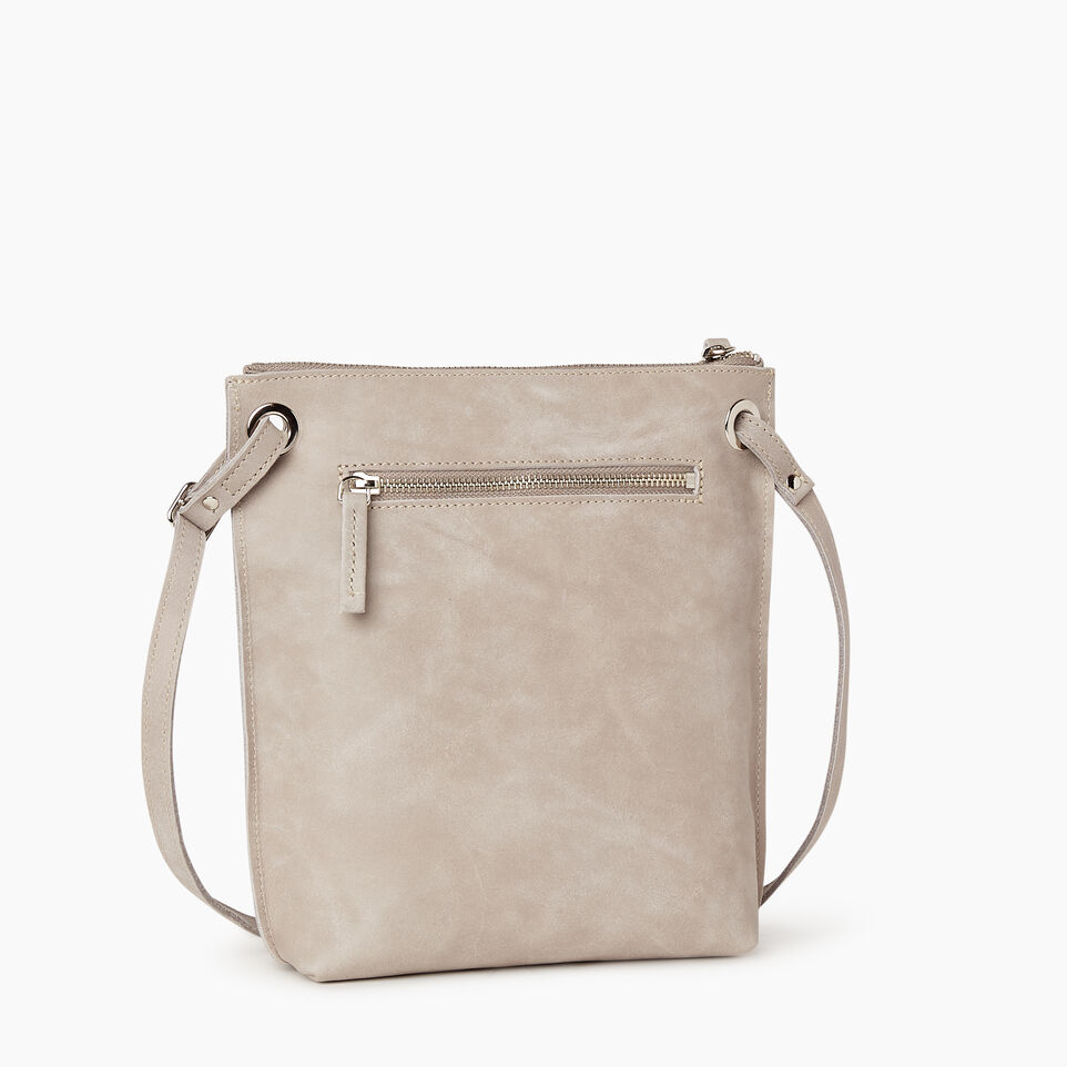 Roots-Leather  Handcrafted By Us Handbags-Festival Bag-Sterling Grey-C