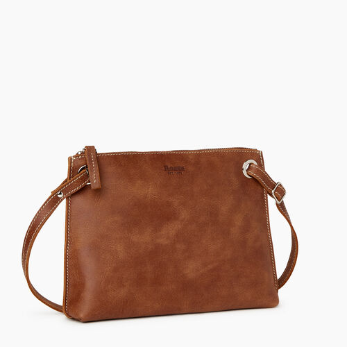 Roots-Leather Crossbody-Edie Bag-Natural-A