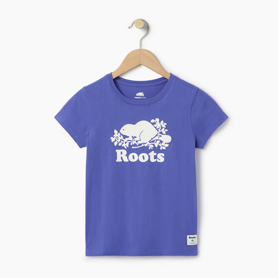 Roots-Kids Our Favourite New Arrivals-Girls Original Cooper Beaver T-shirt-Violet Storm-A