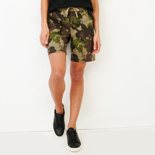 Roots-Women Shorts & Skirts-Essential Short-Fatigue Camo-A
