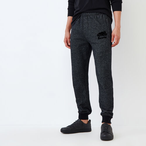 Roots-Men Sweats-Park Slim Sweatpant-Black Pepper-A