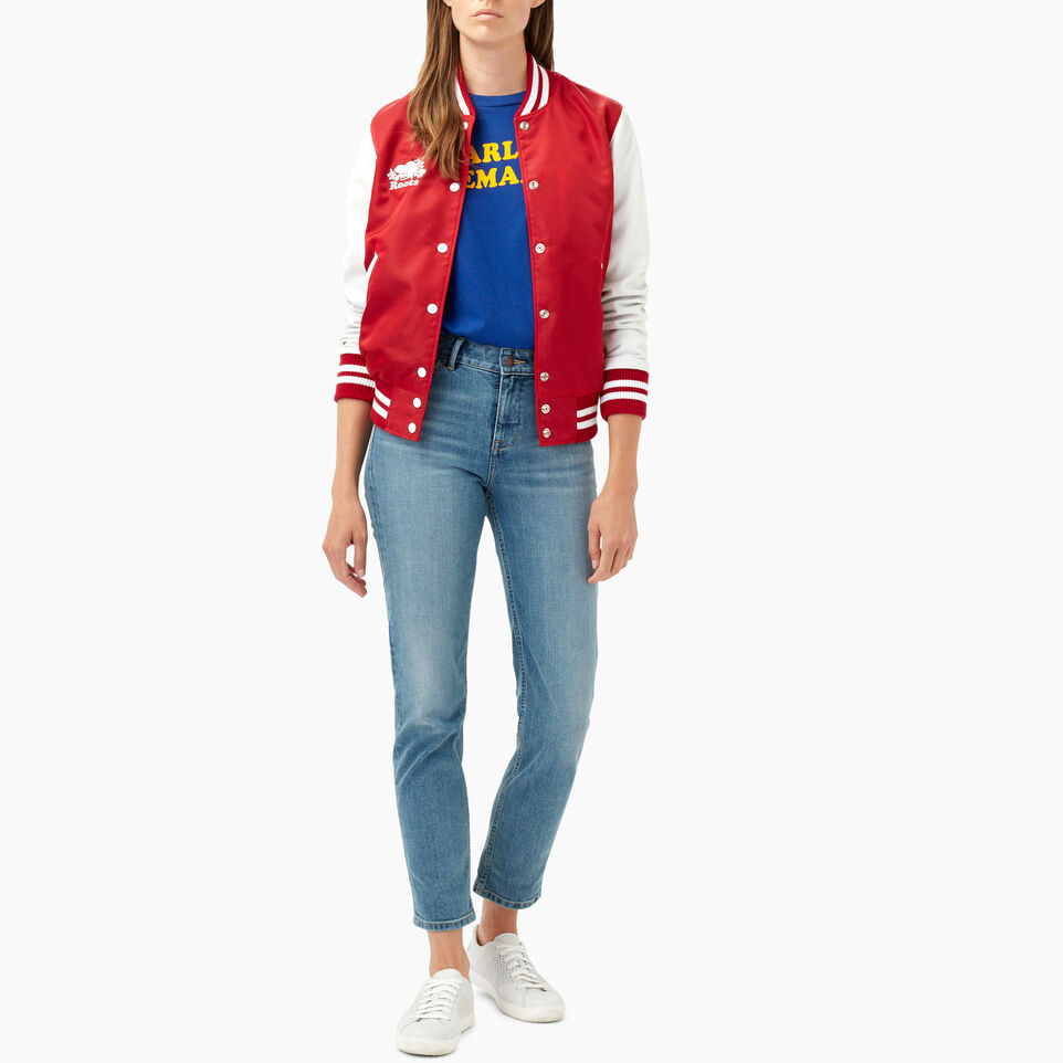 Roots-Leather Categories-Retro Varsity Jacket-Red-B