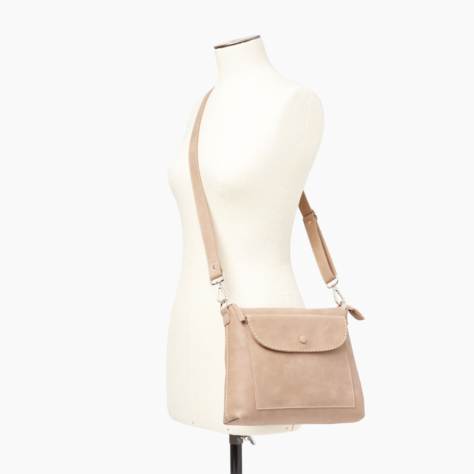 Roots-Leather  Handcrafted By Us Our Favourite New Arrivals-Richmond Crossbody-Sand-B