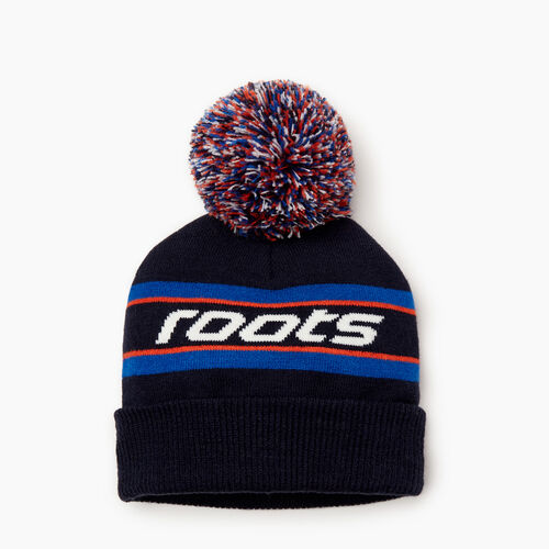Roots-Kids Our Favourite New Arrivals-Kids Speedy Pom Pom Toque-Navy-A