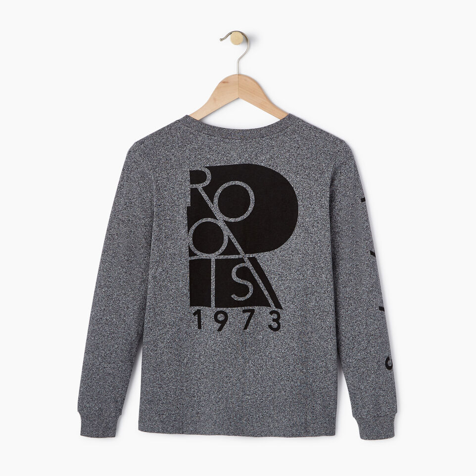 Roots-New For July Daily Offer-Womens Kamloops Long Sleeve-Salt & Pepper-B