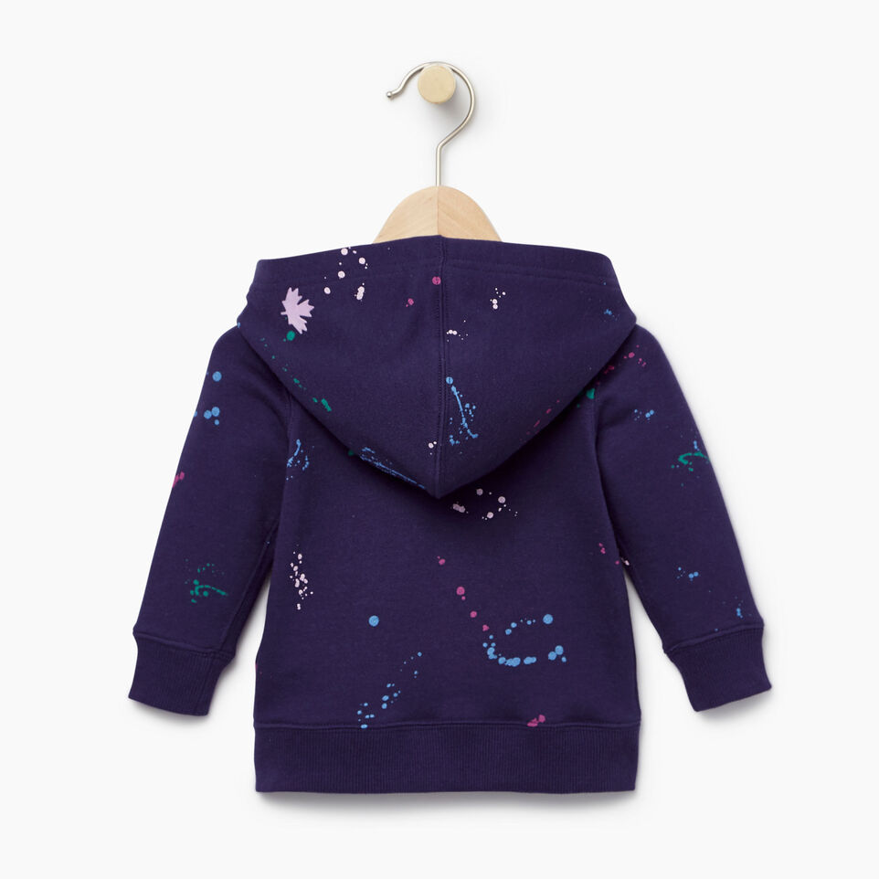Roots-Kids Our Favourite New Arrivals-Baby Splatter Full Zip Hoody-Eclipse-B